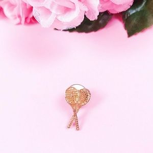 Vintage Gold Colored Tennis Racket Pin